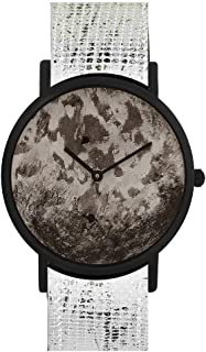 ساعة ساوث لاين سويسرية كوارتز بسوار جلد عجل, اسود 20 (الموديل: SS20-dr1-4750)