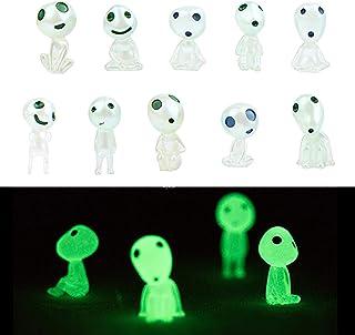 ACTLATI 10Pcs Princess Mononoke Garden Statue, Luminous Micro Landscape, Tree Spirits Elves Toy Figure, Gnome Home Decorat...