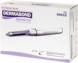 Ethicon DERMABOND ADVANCED Topical Skin Adhesive, DNX12, 0.7 mL Ampule of High-Viscosity Skin Adhesive, Medical Supplies