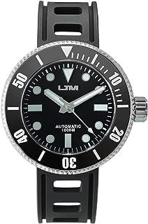 San Martin メンズ 自動巻き 腕時計 ファッション ステンレススチール ダイビングウォッチ 1000メートル (3280フィート) 防水 ブラック