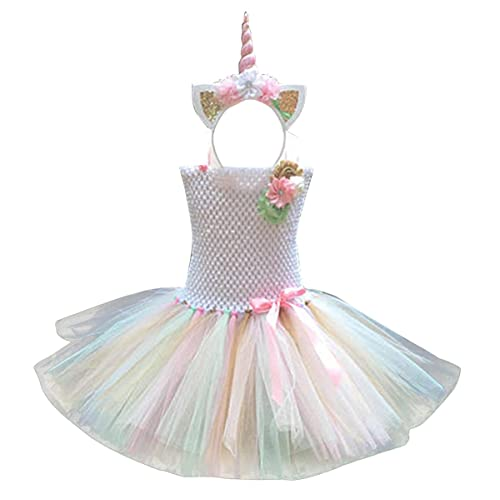86fe963db4 iiniim Kids Girls Ballet Tutu Tulle Dress Party Birthday Costume Set  Children's Festival Dance Dress with