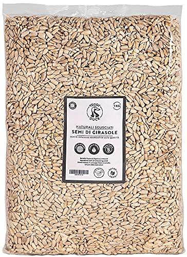 Veggy Duck - Semi di Girasole Sgusciati Naturali (1Kg) - Senza Glutine | Ricchi di Vitamina E e Omega6