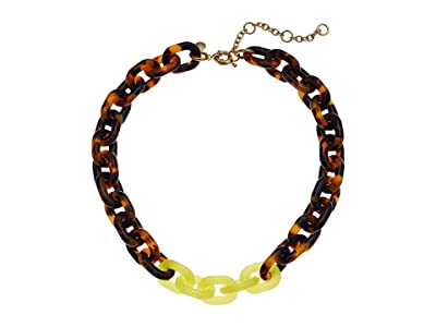 J.Crew Dips Chain Necklace (Tortoise) Necklace