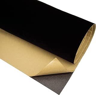 BOBEAVER Self Adhesive Velvet Flocking Liner for Jewelry Drawer Craft Fabric Peel Stick(BLACK)