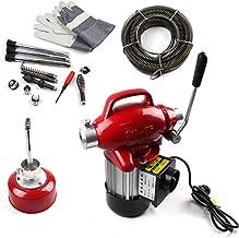 Mophorn Rohrreinigungsmaschine Rohrreinigungsger/ät Spirale 50 x 1//2 Zoll 370W 1750R//min f/ür die Rohrinstallation