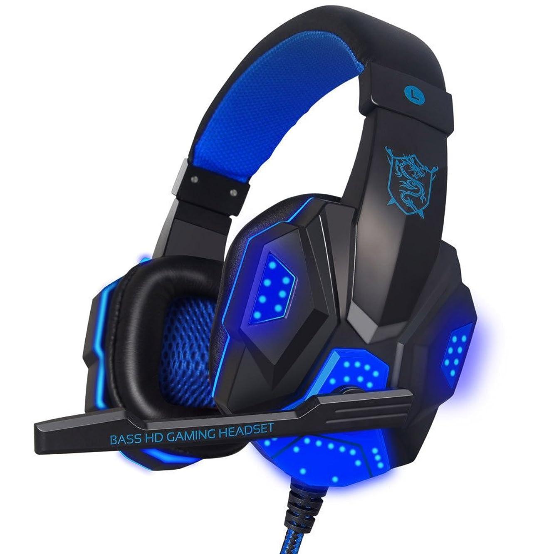 FarJing Stereo Surround Gaming Headset Headband Headphone USB 3.5mm Mic LED Headphone
