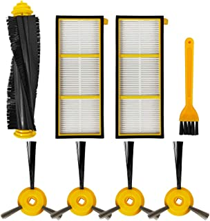 iboodihouse Accessories Replacement/Compatible for Shark ION Robot Vacuum Cleaner RV700 RV720 RV750 RV755 Parts(1 Roller Main Brush & 2 Filter & 4 Side Brushes & 1 Cleaning Brush)