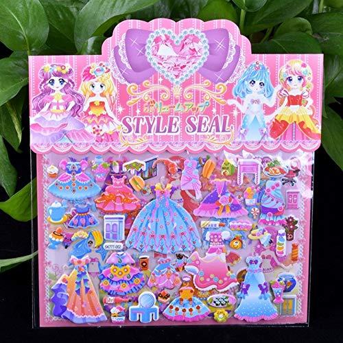 HUNSHA 1 unids DIY vestir etiqueta para diario teléfono portátil libro niños anime kawaii pegatinas chica juguetes