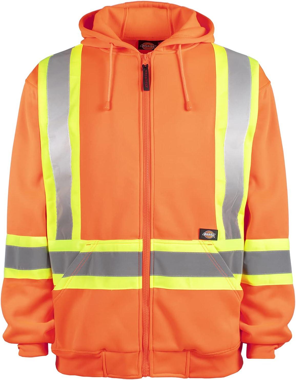 Dickies Workwear High-Visibility Fleece Hoodie, XL Orange