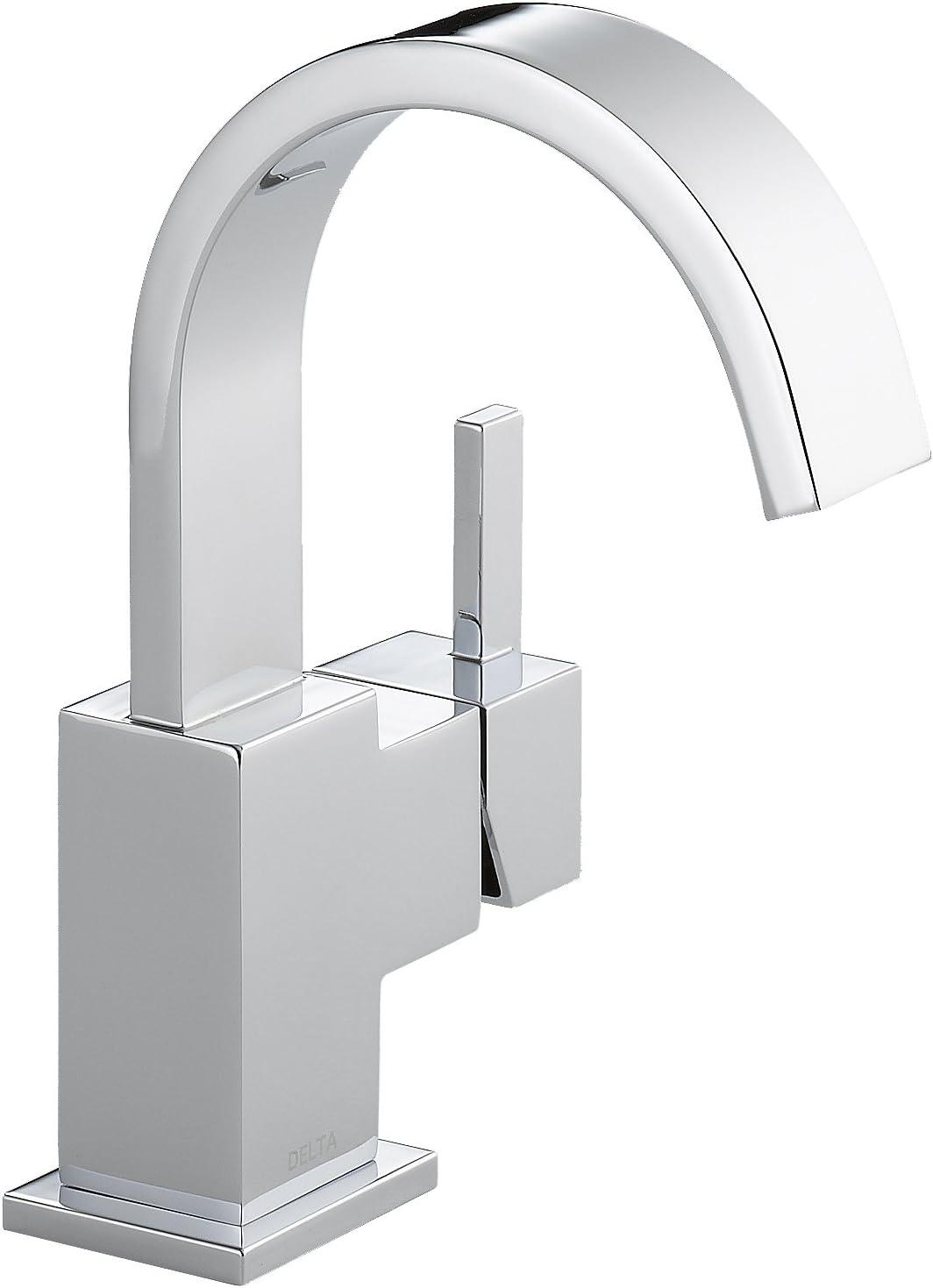Delta Faucet Vero Single Hole Bathroom Faucet, Single Handle Bathroom  Faucet Chrome, Bathroom Sink Faucet, Metal Drain Assembly, Chrome 20LF