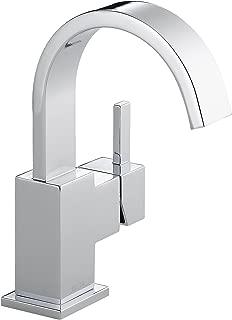 Delta Faucet Vero Single-Handle Bathroom Faucet with Metal Drain Assembly, Chrome 553LF