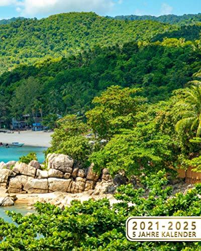 2021-2025 5 Jahre Kalender: Monatskalender & 5 Jahre Monatsplaner | 60 Monate Buchkalender, Januar 2021 bis Dezember 2025 | 1 Monate auf 2 Seiten | Erstaunliche Tropische Insel, Santa Lucia, Karibik