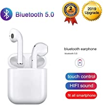Bluetooth Headset Bluetooth 5.0 Wireless Earbuds 3D Stereo Noise Reduction IPX5 Waterproof in-Ear Headphones with Mic Pop-Up Window Fast Charging Compatible for Apple Airpods Android iPhone Samsung