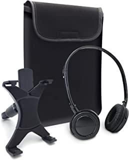 Caseworks (ACC1801) 3-Piece Tablet Accessory Kit - (Headphones, Sleeve, and Car Headrest Mount) | Set of 3