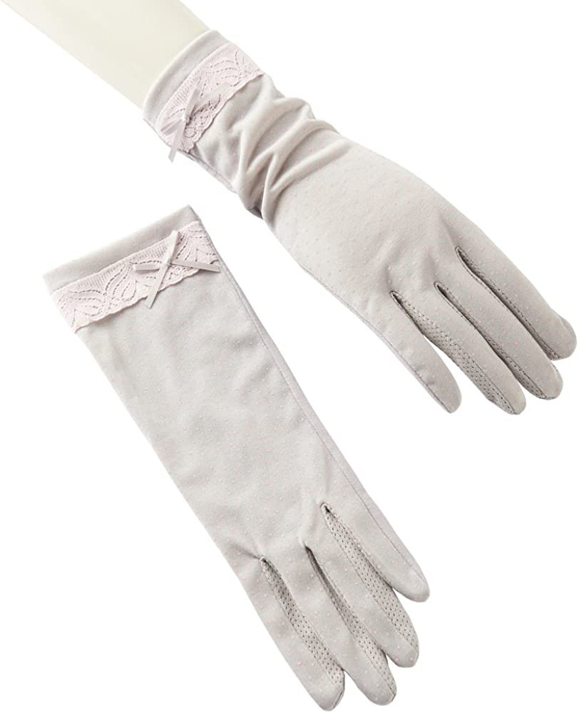 Women's UV Protection Driving Gloves Non-slip, Sun Block Cotton Gloves with Touch Screen Fingers for Summer