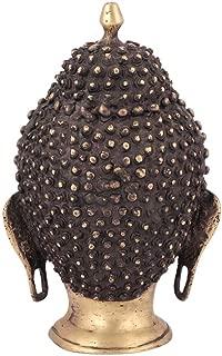 Indianshelf Handmade Brass Lord Buddha Head Statues Decoration Designer Vintage Statement Pieces Online New
