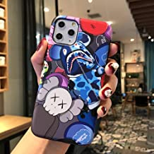 Kplvet iPhone 11 Pro Max Soft Case,IMD Tech Top Sleek Smooth Texture Anti Scratch Unfading Coloring Premium TPU Slim Fit Case for 6.5 iPhone 11 Pro Max,Street Fashion Trend Phone Cover (Shark Bear)