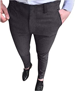 Pant Suit Trousers for Men,Skinny Slim Fit Stretch Casual Comfort Business Plain-Front Pants