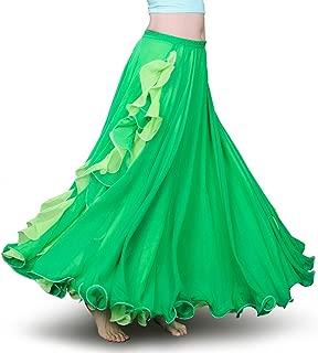 ROYAL SMEELA Damen Bauchtanz-kostüm Chiffon Bauchtanz röcke stammes-Maxi volles tanzrockkleid Belly Outfit