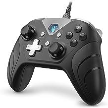 IFYOO XONE Pro 有線USB接続ゲームパッド [PCコンピューターWindows 10/8/7/XP,Steam & Android & PS3]対応コントローラー - [黒]
