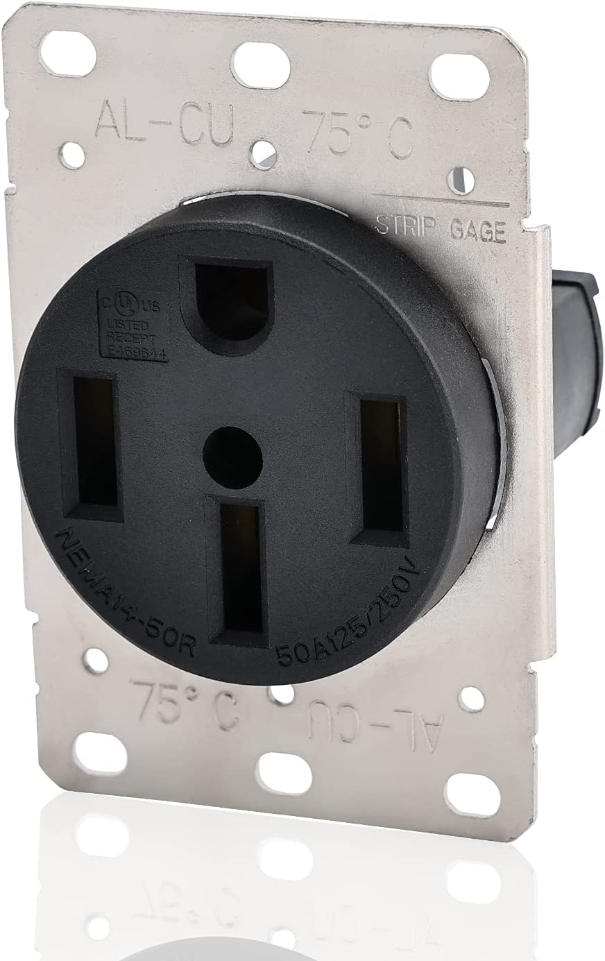 STARELO Flush Mounting Receptacle NEMA 14-50R 125 50A Spring new work 250V 3 Po Ranking integrated 1st place