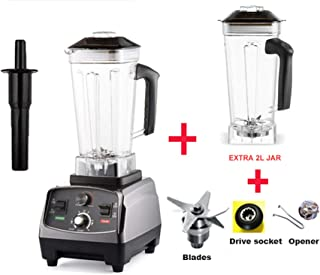 Heavy Duty Professional Smart Blender Mixer Juicer Fruit Food Processor Ice Smoothies Crusher,Extra Jar and 3Parts,EU Plug