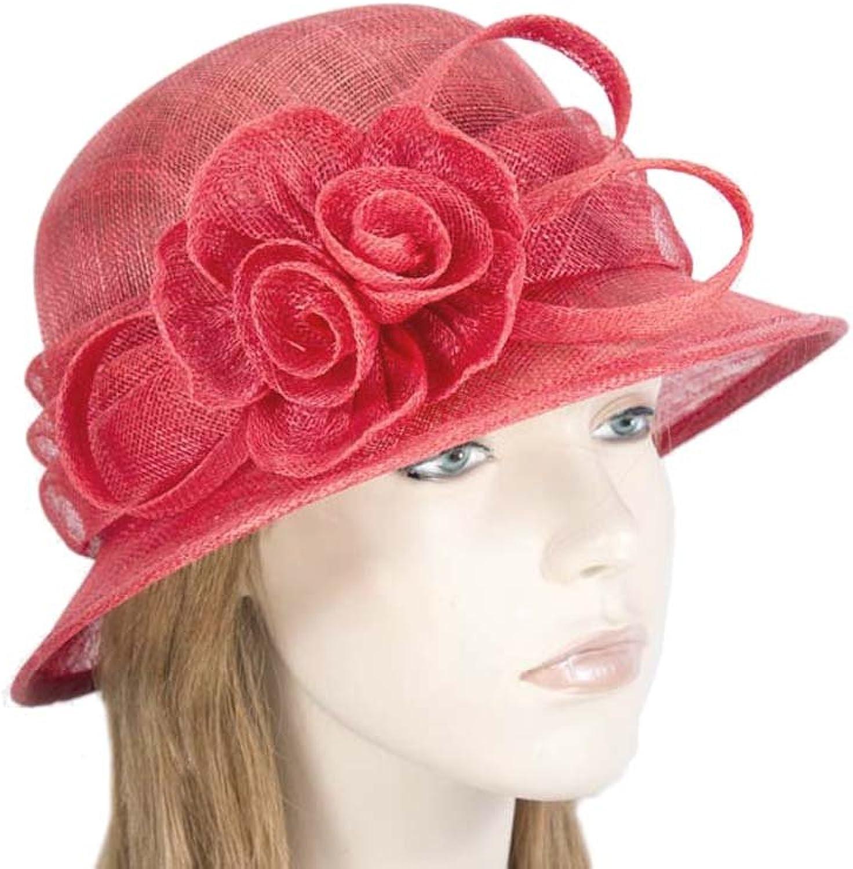 Max Alexander Red Bucket Sinamay Ladies Fashion Church Ladies Fashon Hat