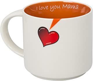 I Love You Mama 16oz Funny Ceramic Coffee Mug, Best Gift for Mom, Mother's Day Christmas or Birthday Gift From QFUN