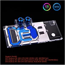 Full Cover Graphics Card Block use for XFX-Radeon-RX-480-GTR-8GB-GDDR5/ RX580 GTS XXX Edition Copper Radiator Water Block