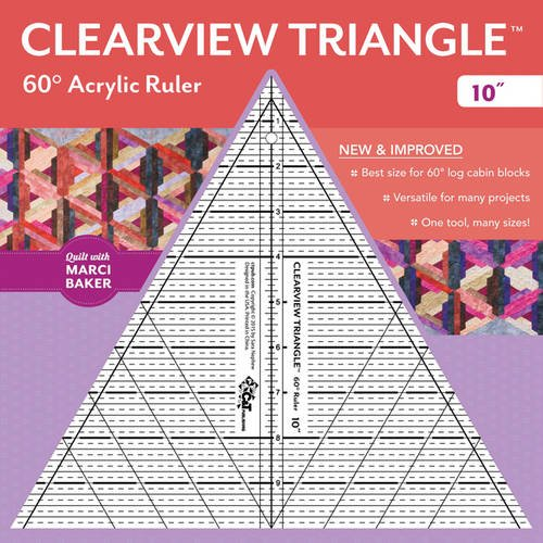 """Clearview Triangle (TM) 60 Degrees Acrylic Ruler - 10\"""""""