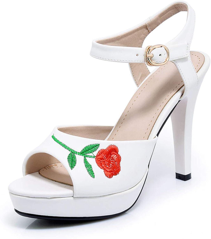 Oasrs Elegant Wedding Sandals Women Sexy Footwear Female's Super High Heels Sandals,Whitepu,9.5