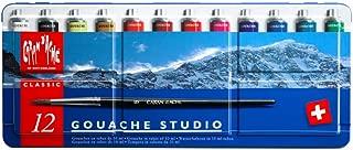 CREATIVE ART MATERIALS Caran D'ache Gouache Studio 12 Tubes (2001.312)