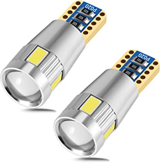 leppein 194 LED Bulbs 6500K Extremely Bright 175 168 2825 W5W T10 led bulbs Non-Polarity Error Free for Car Dome Map Door Courtesy License Plate Lights(Pack of 2)