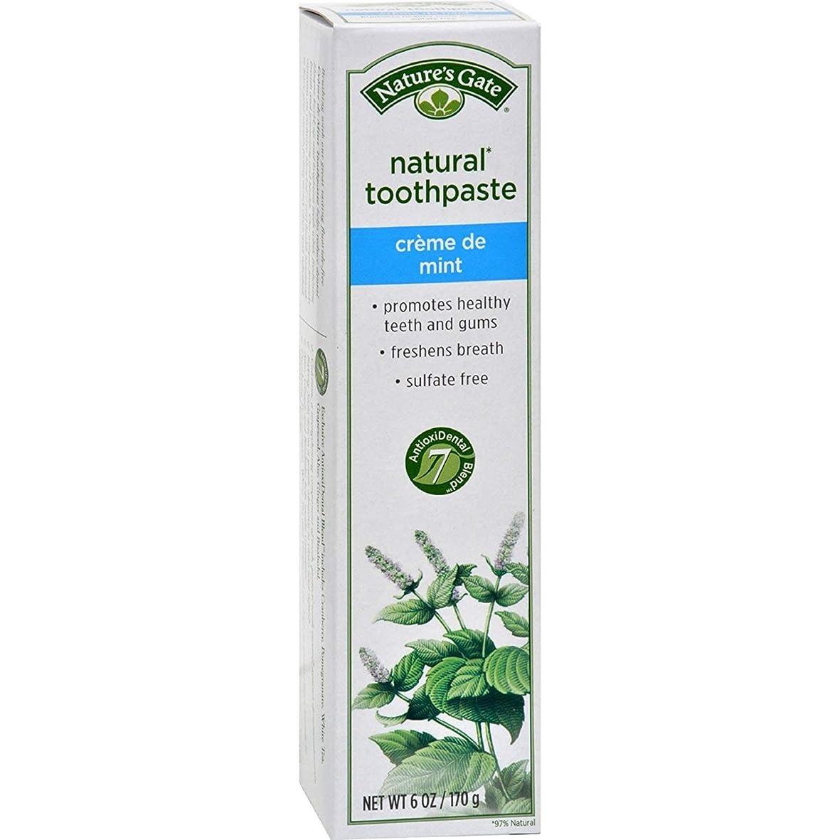 見積り持っている絶対のNature's Gate, Natural Toothpaste, Creme de Mint, 6 oz (170 g)