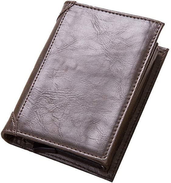Women And Men Aluminum Alloy Antimagnetic Credit Card Purse Multifunction Mini Wallet