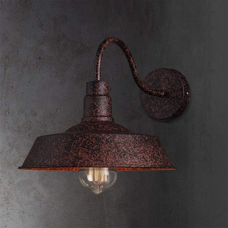 YLCJ Retro Creative Lámpara de parot LED de una sola cabeza Macaron Canopy Lámpara de techo Aplique Barn Warehouse Villa Iluminación de parot a parot (Farbe  Blau)