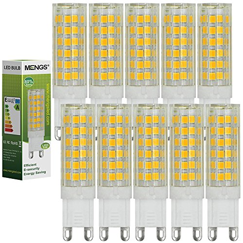 MENGS 10 Stück G9 LED Lampe 7W AC 220-240V Kaltweiß 6000K 75x2835 SMD Mit ACRYLIC und Keramik Mantel