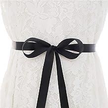 Jurk-accessoires Met de hand gestikte parel strass bridal jurk riem bruiloft zilveren strass riem Voor Vrouwen (Color : Bl...