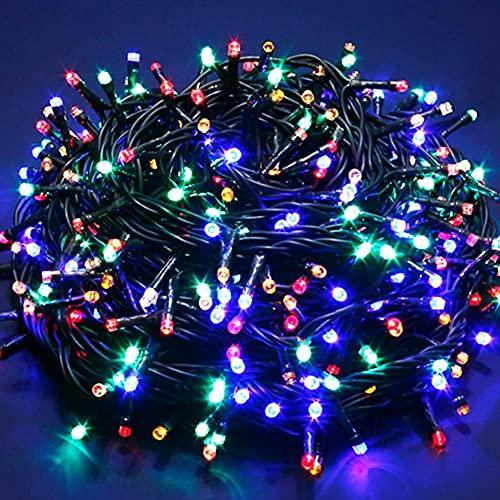 Bakaji Catena Luminosa 750 Luci LED Lucciole Multicolore con Controller 8 Funzioni per uso Interno ed Esterno