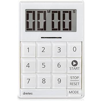 dretec(ドリテック) デジタルタイマー キュービック 音と光で時間をお知らせ 無音機能付き T-549WT ホワイト