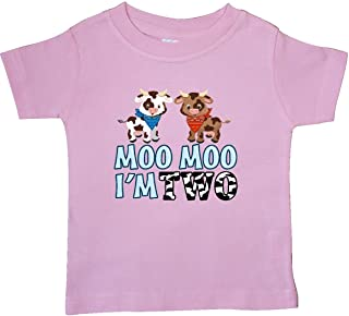 inktastic Moo Moo I'm 2 with Cute Holstein Cows Baby T-Shirt