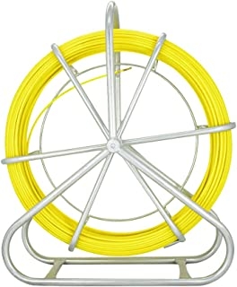 Obluesky 6MMX130M Tirage De Câble Fibre De Verre Tige de canne Rodder Fiberglass Tirer le câble de fil de pointe Rouler le...