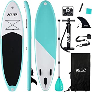 comprar comparacion Tabla Hinchable de Paddle Surf + SUP Paddle Remo de Ajustable | Bomba | Mochila | Aleta Central Desprendible | Kit de Repa...