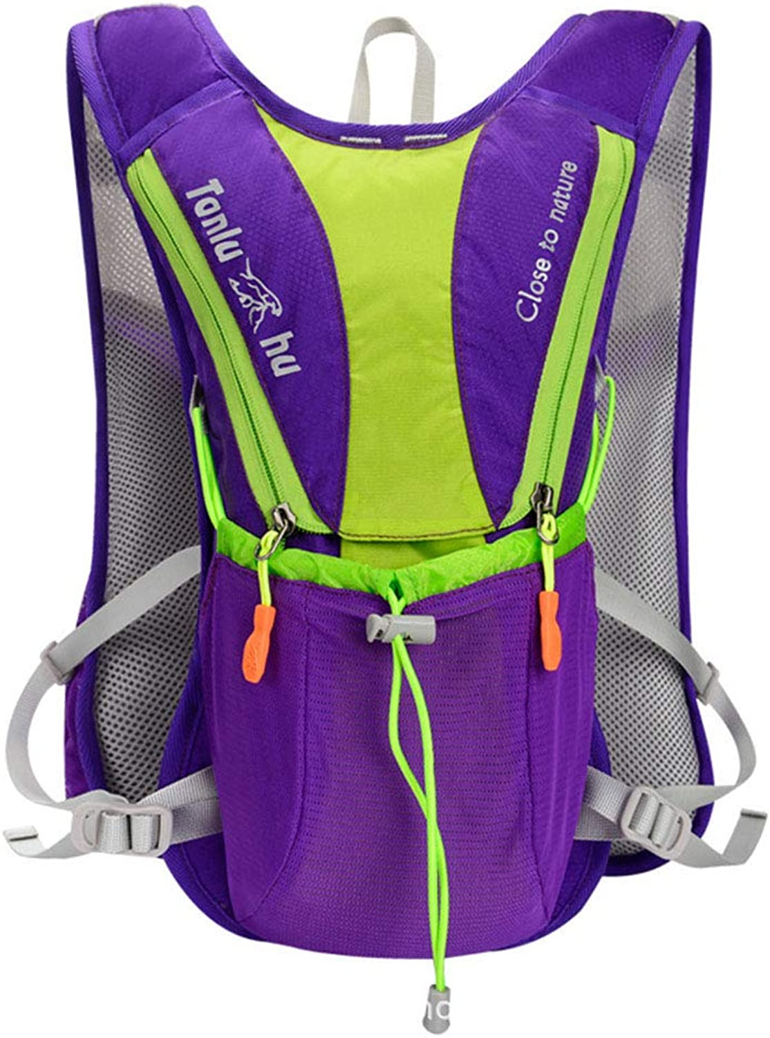 Cycling Backpack Biking Riding Daypack Bike Rucksack Breathable Lightweight for Outdoor Sports Travelling Mountaineering Water Pack Unisex,Purple,37  19  9cm