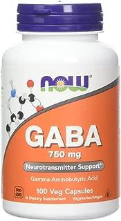 [海外直送品]2本セット Now Foods 社 (アメリカ製)ギャバ GABA 750mg(ベジタリアンカプセル)
