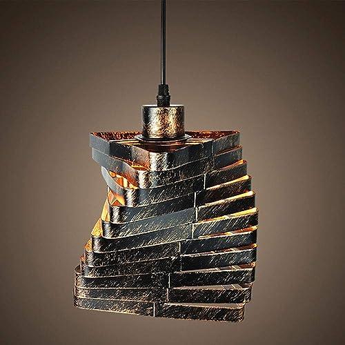 Sheen Vintage Suspension luminaire Métal, E27 Douille Fer Rétro Lampe suspendue Indoor Entête Restaurant Bar Chevet-16x20cm