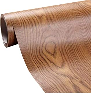 Self Adhesive Wood Grain Furniture Stickers PVC Wallpaper cabinets Gloss Film Vinyl Counter Top Decal 15.6''x79''