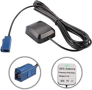 Coche GPS Antena Activa FAKRA Conector Macho Conector Cable Antena Receptor Transmisor Base Magnética para Coche