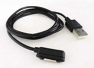 iNTE-E Direct 【 100cm 】 Xperia Z Ultra / Z1 / Z1 f (Z1 s) 用 USBマグネットチャージケーブル 充電ケーブル ブラック iNTE-4309BK