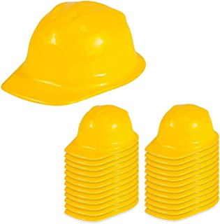 Dress up Hats - Construction Hat - 24 Soft Plastic Hats by Funny Party Hats